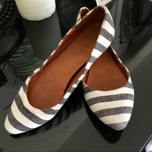 Madewell Striped Skimmer Flats Shoes size 6